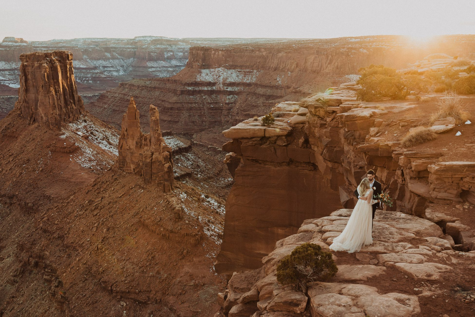 moab sunset elopement