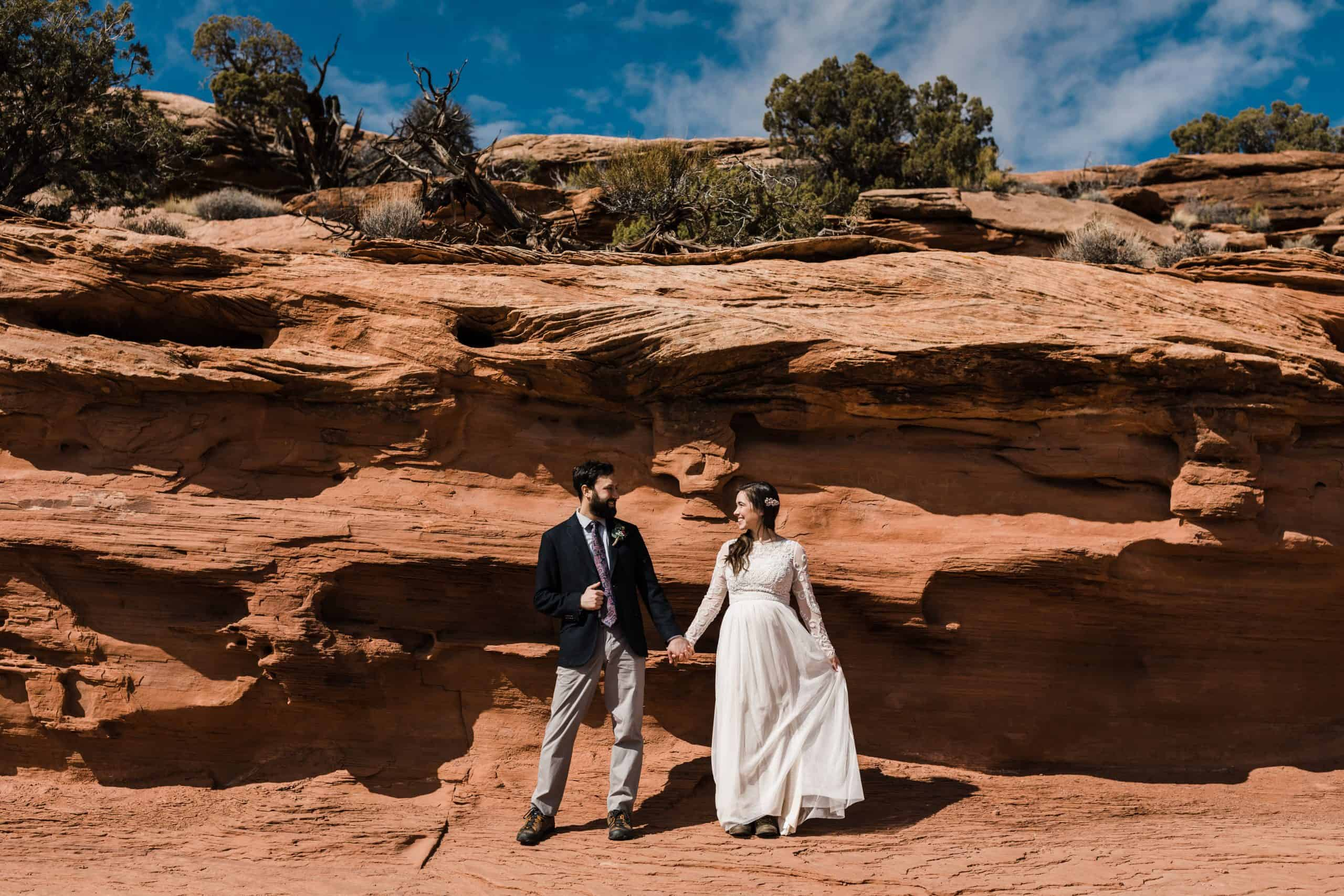 canyonlands elopement at the grandview point