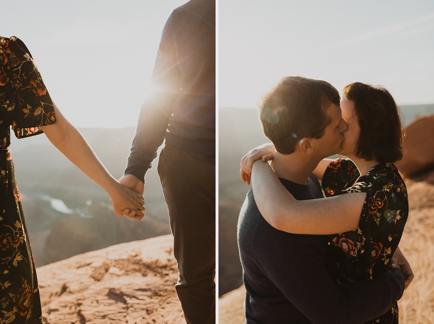 engagement photos at dead horse point
