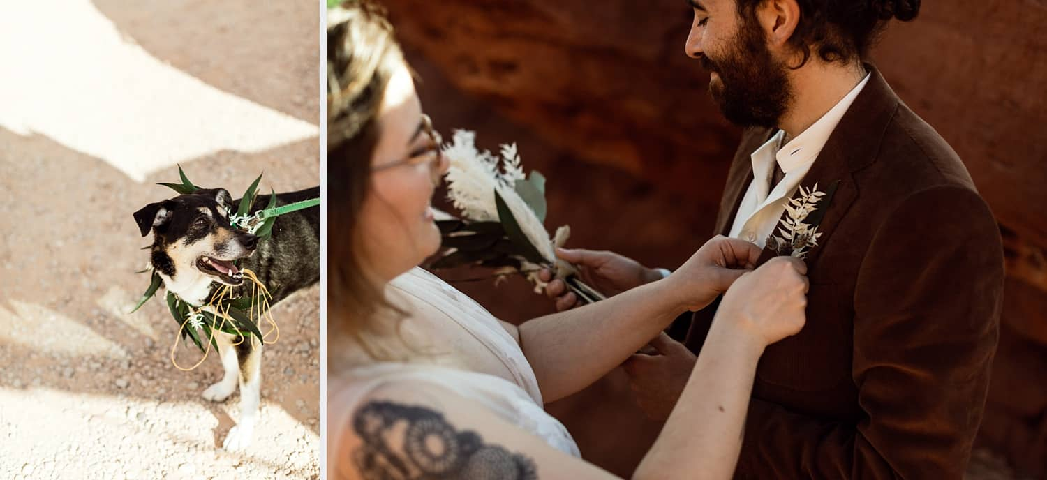 intimate elopement in moab