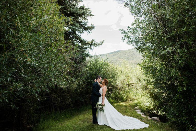 park city backyard wedding